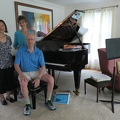 Lake Forest -- Shown the 9-foot Bosendorfer grand piano in the home of my master's degree advisor.  One of the last instruments built by the Austrian instrument-maker, before the company was acquired by the Japanese.  The couple downscaled to an empty-nester home, I had forgotten that DY had seen the big house for 4 kids in 1984, on our original migration driving from Vancouver to Toronto.  (Lake Forest, Illinois) 20180815