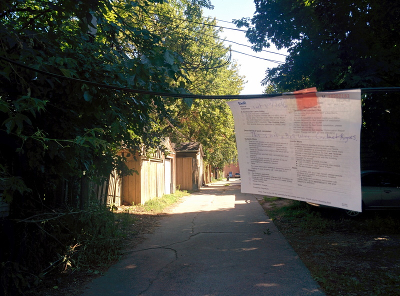 Laneway between Booth Avenue and Logan Avenue, Queen Street East and Eastern Avenue