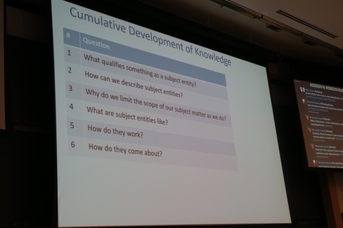 David Rousseau, Cumulative Development Of Knowledge