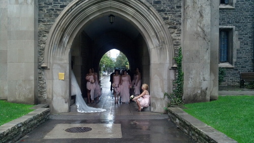 Bridesmaids at Burwash Hall Gate House