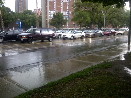 Torrential downpour at Regent Park