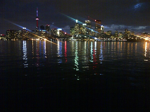 Toronto nightline from Polson Pier