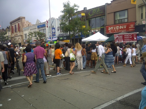Danforth, east of Chester, Taste of the Danforth