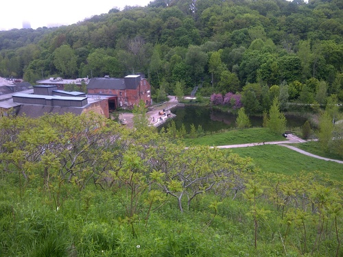 Evergreen Brickworks from the Governor's Bridge Lookout
