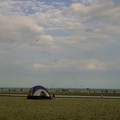 Kites and tent at Woodbine Beach, Victoria Day 2011