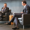 Rotman School -- It's always about the apps, more than better architecture or technology, says @JohnChen with @KelleherJc @PubPolicy_Munk @RotmanEvents on the success of turnaround at Sybase. Four part interview, on moving from Hong Kong to American universities, rise in Silicon Valley, coming into Blackberry, and the technology industry today. (Rotman School of Management, St. George Street, Toronto, Ontario) 20190115