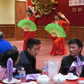 Lowkong Society -- Spring festival dinner for the family clan featuring dancers and singers with the food.  Waited until courses 6 and 7 for dishes within vegan constraints, others at the table were nearly full by then.  (Dim Sum King, Dundas Street West, Toronto, Ontario) 20190428