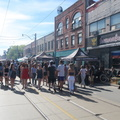 Dundas West Fest -- From eastern end of @DundasWestFest, walked west through crowds on closed thoroughfare for almost an hour, by kiosks of local breweries, food specialities, kids play areas and live music.  Summer in Toronto has really arrived, lots of people in shorts and sandals.  Universities are out, but primary and secondary schools are not yet finished for the year.  A reminder of a Toronto neighbourhood for residents more than tourists, biked there and biked back.  (Dundas Street West of Ossington Avenue, Toronto, Ontario) 20190609