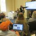 CH2M Alumni Centre -- Workshop @ISSSMeeting @OSUAlumniCenter with @wardcunningham @michaelwmehaffy on Federated Wiki and Pattern Language.  A few attendees claimed personal sites on wiki.openlearning.cc .  From start.fed.wiki , readers got comfortable with cursor keys and moving around #FederatedWiki.  Then, from mehaffy.fed.wiki.org , recent history on advancing #PatternLanguage.  Loose agenda at http://isss2019.daviding.wiki.openlearning.cc/view/introduction-to-federated-wiki-and-pattern-language .  (CH2M Hill Alumni Center, Oregon State University, Corvallis, Oregon) 20190630