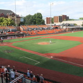 Goss Stadium -- Canada Day, but @ISSSMeeting ball game @CorvKnights and @HvilleHammers @GossStadium sing local anthem of the Star Spangled Banner.  Our group enjoyed the luxury of the Omaha Room box, theme days with additional characters dressed up in Wizard of Oz costumes.  OSU not only has a stadium for baseball, but additionally for football and for basketball.  (Goss Stadium, Oregon State University, Corvallis, Oregon) 20190701