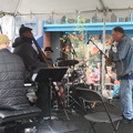 Fillmore Jazz Festival -- Quartet led by #MichaelZilber, with #OsamEzzeldin #JeffChambers #JeffMarrs, reinterpreting tunes from early #WayneShorter #MilesDavis.  This performance was at the California Street Stage located northmost of the festival, a destination as we bypassed multiple other musicians from the south.  Explained modal scales to a classically trained musician, puzzling over how an ensemble plays together well.  (Fillmore Jazz Festival, Fillmore Street at California Steet, San Francisco, California) 20190708