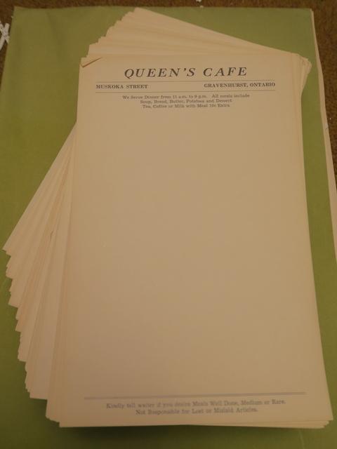 Queens Cafe (1950s) Gravenhurst