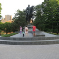Queen's Park -- Privileged to live in a city where children can run free in a public park, and parents are trusting, without regard to their ethnicity or socio-economic status.  The King Edward VII Equestrian Statue was installed in 1969 more for the horse, than for the monarch on horseback.  Any traces of defacement by protesters are gone, a brief moment in the larger context of time.  (Queen's Park, Toronto, Ontario) 20200721
