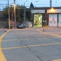"Russell Carhouse -- North side of maintenance facility for streetcars has painted curves marked ""no parking"" and ""fire route"", towards exit door #1.  Tracks curve around the west side, and down Connaught Avenue to the east.  Facility was rebuilt in 1924, with other part of fleet housed overnight at Roncesvalles.  (Russell Carhouse, 1411 Queen Street East, Toronto, Ontario) 20201105"