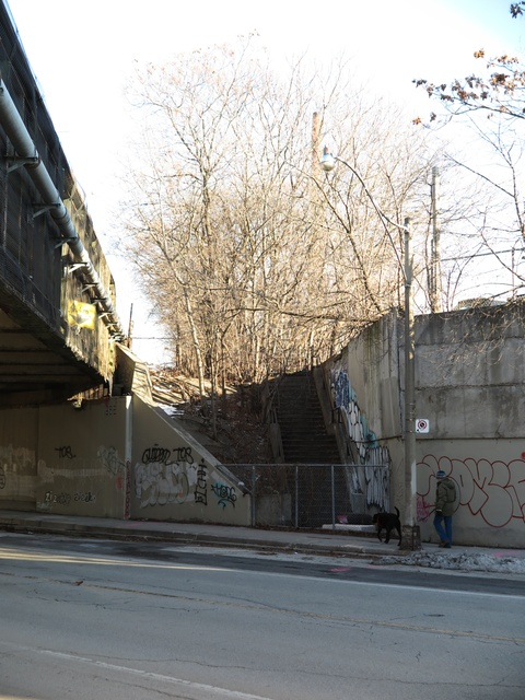 Logan Avenue, north of Dundas Street East