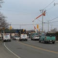 Eastern Avenue at Leslie Street -- Just before lunch, electrical power went out at the house.  Reports of a tow truck hitting an pole led to @TorontoHydro forecast of service restoration within 4 hours.  Biked over to find lineman finishing off rewiring.  Lights came back on 30 minutes before sunset.  (Eastern Avenue at Leslie Street, Toronto, Ontario) 20210115