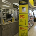 Jeff's No Frills -- Scheduled appointment to receive AstraZeneca Covid-19 vaccine, responding to call for under-age 65 subjects. Received quick jab in office of grocery store, in the afternoon after National Advisory Community on Immunization expands recommendation of formulation for all ages.  Ontario pharmacists are now reporting that supply is depleting, hard to plan more than a week ahead.  (Loblaws Pharmacy at Jeff's No Frills, Carlaw Avenue, Toronto, Ontario) 20210316