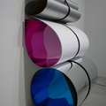Art Gallery of Ontario -- Sculpture of formica and plexiglass bound with Everlast boxing wraps @juliadault (2014) Untitled 36, reinstalled here on November 2, 2020.  Brighter colours inside the loops than I recall with (2013) Untitled 26 that I saw at #ScrapMetalGallery in 2019.  Exhibits on display this visit may have more content indigenous to Canada, convenient since transcontinental shipping is likely reduced with the pandemic.  (Art Gallery of Ontario, Dundas Street West, Toronto, Ontario) 20210915