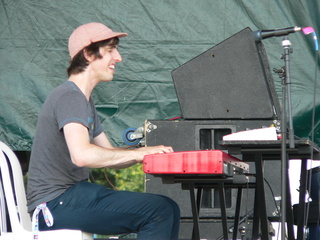 Woodbine Park Main Stage keyboards